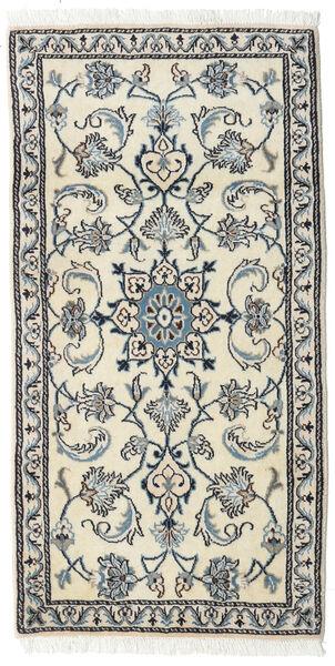 Nain Matta 72X141 Äkta Orientalisk Handknuten Beige/Ljusgrå (Ull, Persien/Iran)