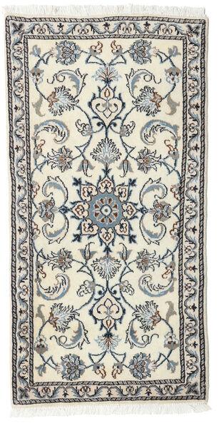 Nain Matto 71X140 Itämainen Käsinsolmittu Vaaleanharmaa/Beige/Tummanharmaa (Villa, Persia/Iran)