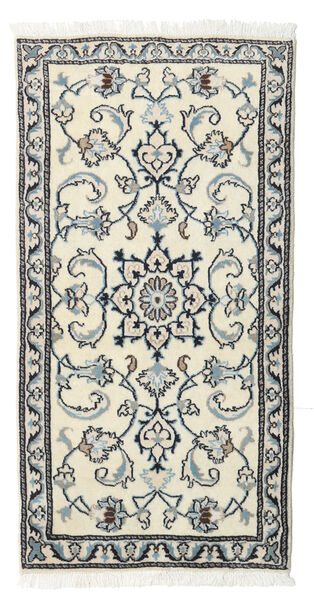 Nain Rug 70X138 Authentic  Oriental Handknotted Beige/Light Grey (Wool, Persia/Iran)