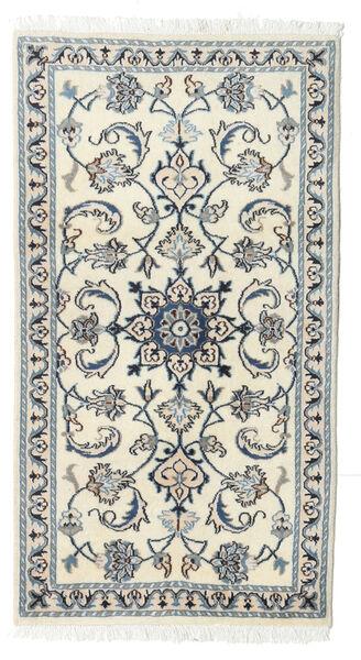 Nain Matta 70X130 Äkta Orientalisk Handknuten Beige/Ljusgrå (Ull, Persien/Iran)