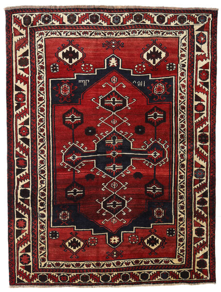 Lori Rug 167X220 Authentic  Oriental Handknotted Dark Red/Black (Wool, Persia/Iran)