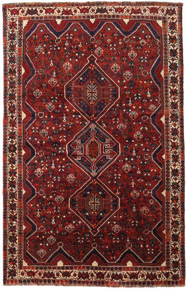 Shiraz Rug 163X251 Authentic  Oriental Handknotted Dark Red/Black (Wool, Persia/Iran)