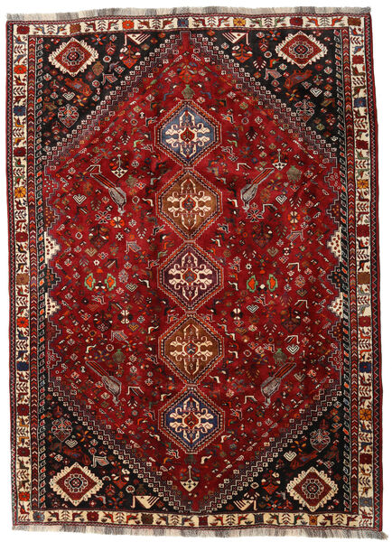 Qashqai Rug 188X260 Authentic  Oriental Handknotted Dark Red/Dark Brown (Wool, Persia/Iran)