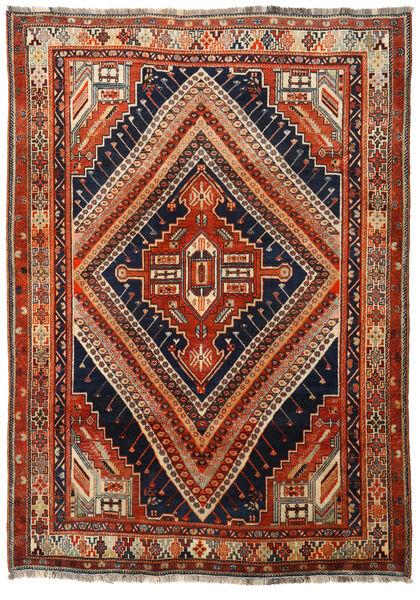 Qashqai Rug 172X242 Authentic  Oriental Handknotted Dark Red/Dark Blue (Wool, Persia/Iran)