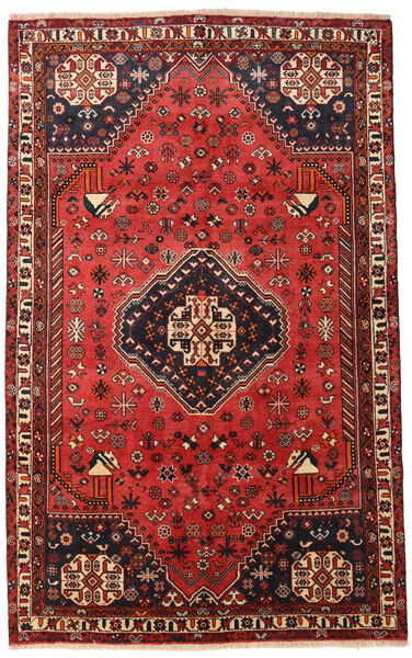 Qashqai Rug 156X253 Authentic  Oriental Handknotted Dark Red/Rust Red (Wool, Persia/Iran)