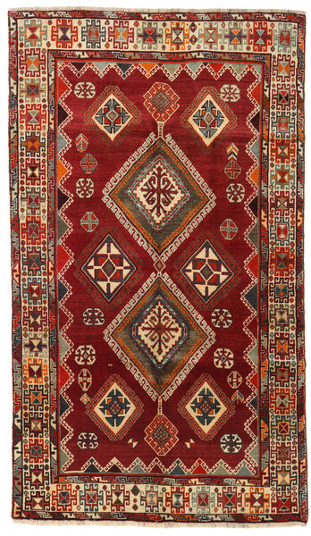 Qashqai Rug 146X254 Authentic  Oriental Handknotted Dark Red (Wool, Persia/Iran)