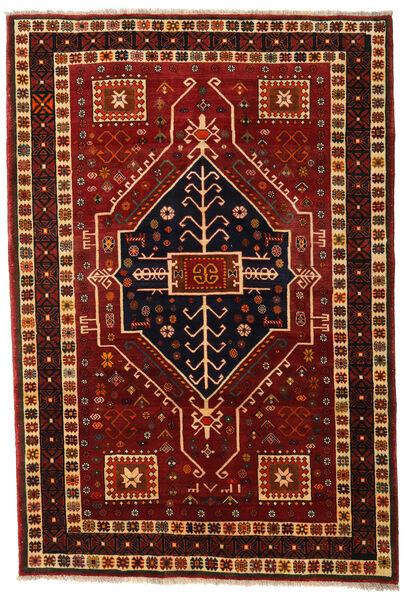 Ghashghai Matto 166X242 Itämainen Käsinsolmittu Tummanpunainen/Tummanruskea (Villa, Persia/Iran)