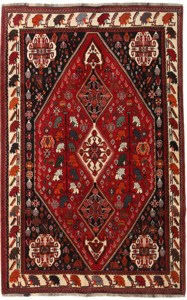 Ghashghai Matta 166X260 Äkta Orientalisk Handknuten Mörkröd/Mörkbrun (Ull, Persien/Iran)
