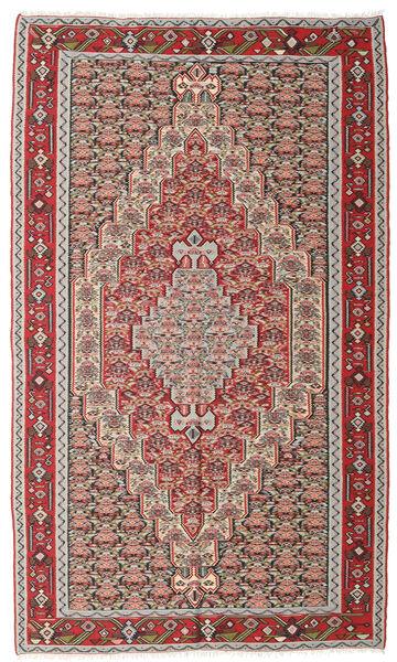 Kilim Senneh Szőnyeg 150X251 Keleti Kézi Szövésű Világosszürke/Barna (Gyapjú, Perzsia/Irán)