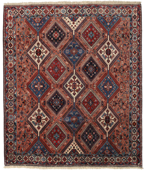 Yalameh Rug 200X237 Authentic  Oriental Handknotted Dark Red/Dark Grey (Wool, Persia/Iran)