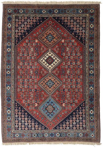 Yalameh Rug 172X241 Authentic  Oriental Handknotted Dark Red/Dark Brown/Dark Blue (Wool, Persia/Iran)