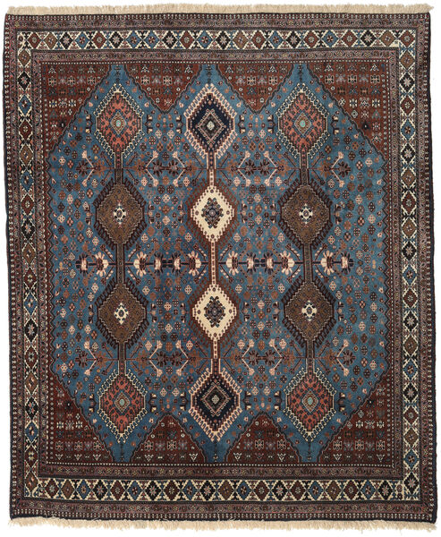Yalameh Rug 203X263 Authentic  Oriental Handknotted Dark Brown/Dark Grey (Wool, Persia/Iran)