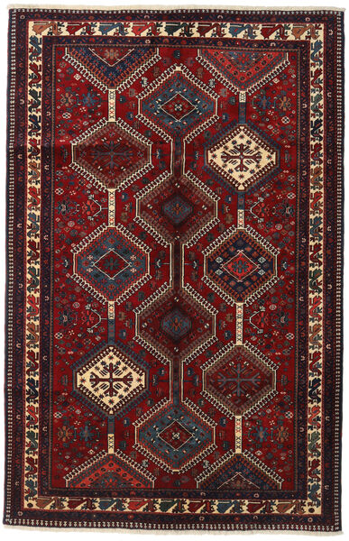 Yalameh Rug 153X237 Authentic  Oriental Handknotted Dark Red (Wool, Persia/Iran)