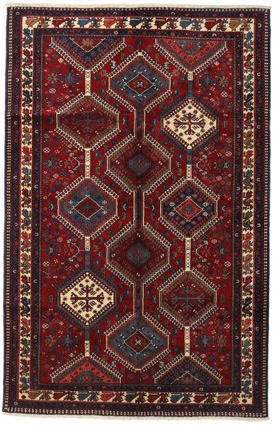 Yalameh Matta 153X237 Äkta Orientalisk Handknuten Mörkröd (Ull, Persien/Iran)