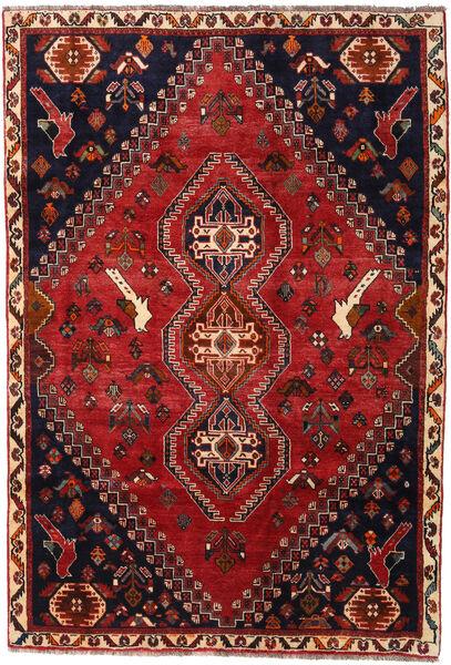 Qashqai Rug 176X255 Authentic  Oriental Handknotted Dark Red/Black (Wool, Persia/Iran)