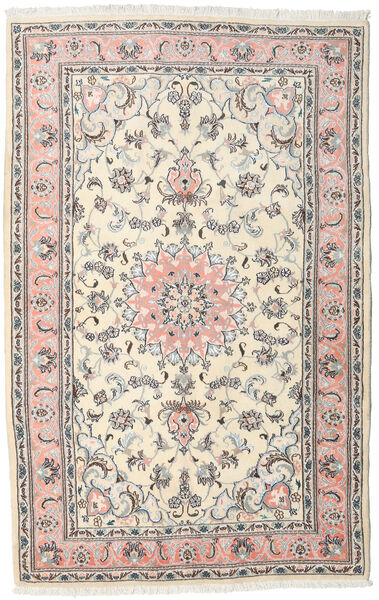 Nain Rug 153X254 Authentic  Oriental Handknotted Beige/Light Grey (Wool, Persia/Iran)