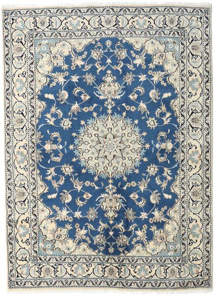 Nain Dywan 170X230 Orientalny Tkany Ręcznie Beżowy/Ciemnoniebieski (Wełna, Persja/Iran)