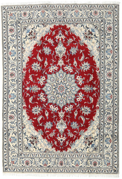 Nain Rug 165X240 Authentic  Oriental Handknotted Light Grey/Beige (Wool, Persia/Iran)