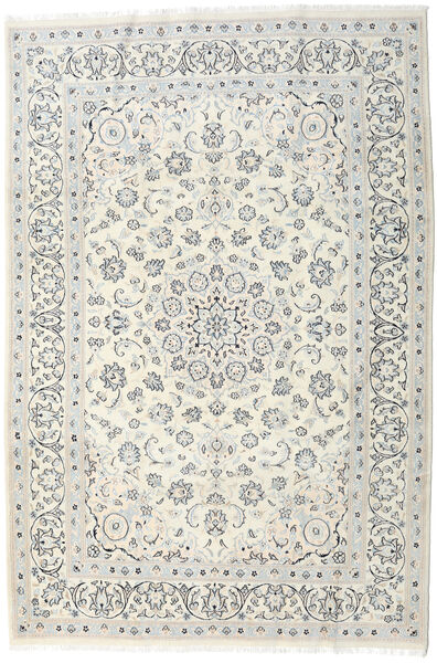 Nain Teppe 198X292 Ekte Orientalsk Håndknyttet Lys Grå/Beige/Mørk Beige (Ull, Persia/Iran)