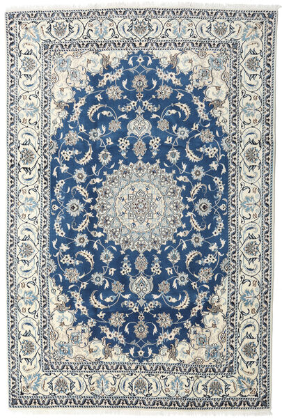 Nain Rug 200X293 Authentic  Oriental Handknotted Light Grey/Beige/Dark Blue (Wool, Persia/Iran)