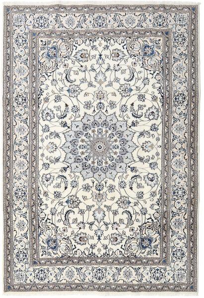 Nain Matta 201X296 Äkta Orientalisk Handknuten Ljusgrå/Mörkgrå/Beige (Ull, Persien/Iran)