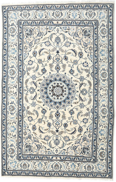 Nain Rug 195X299 Authentic  Oriental Handknotted Beige/Light Grey (Wool, Persia/Iran)