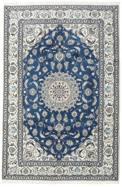 Nain Rug 192X290 Authentic  Oriental Handknotted Beige/Dark Blue (Wool, Persia/Iran)