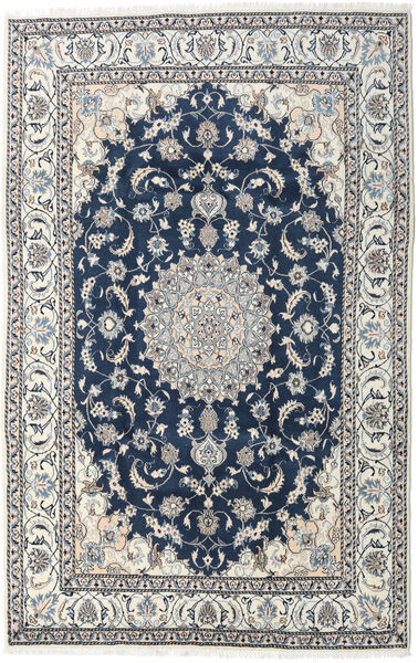 Nain Rug 194X300 Authentic  Oriental Handknotted Light Grey/Dark Blue (Wool, Persia/Iran)