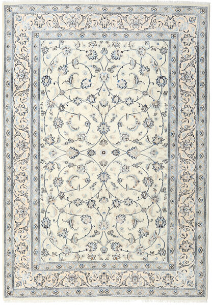 Nain Teppe 200X291 Ekte Orientalsk Håndknyttet Lys Grå/Beige (Ull, Persia/Iran)