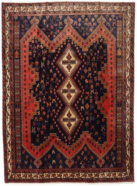Afszar Dywan 183X245 Orientalny Tkany Ręcznie Czarny/Ciemnoczerwony (Wełna, Persja/Iran)