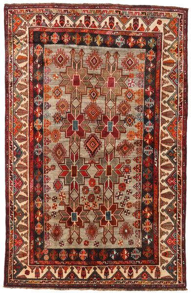 Qashqai Szőnyeg 160X246 Keleti Csomózású Sötétpiros/Világosbarna (Gyapjú, Perzsia/Irán)