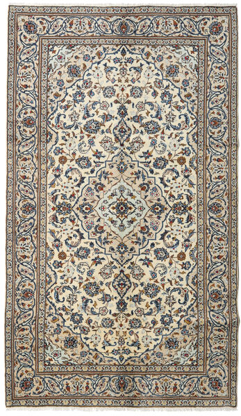 Keshan Rug 145X253 Authentic  Oriental Handknotted Dark Grey/Light Grey (Wool, Persia/Iran)