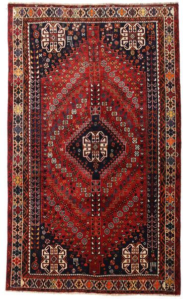 Ghashghai Matto 160X266 Itämainen Käsinsolmittu Tummanpunainen (Villa, Persia/Iran)