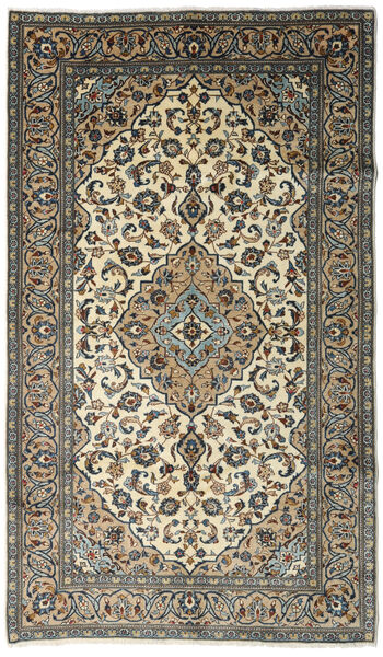 Keshan Rug 148X252 Authentic  Oriental Handknotted Dark Grey/Dark Beige (Wool, Persia/Iran)