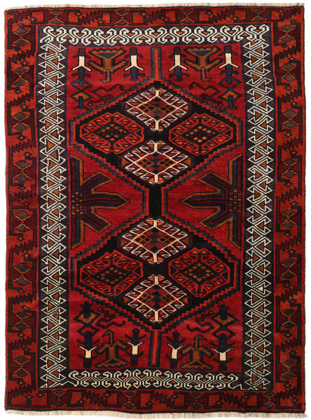 Lori Rug 165X223 Authentic  Oriental Handknotted Dark Red/Rust Red (Wool, Persia/Iran)