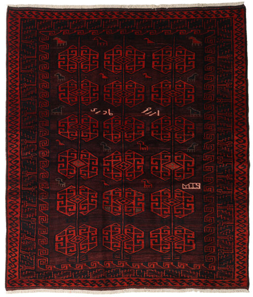 Lori Rug 185X212 Authentic  Oriental Handknotted Square Dark Red (Wool, Persia/Iran)
