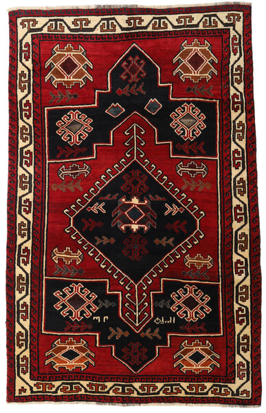 Lori Rug 156X248 Authentic  Oriental Handknotted Dark Brown/Dark Red (Wool, Persia/Iran)