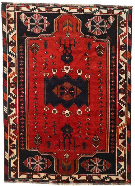Shiraz Rug 170X233 Authentic  Oriental Handknotted Black/Rust Red (Wool, Persia/Iran)