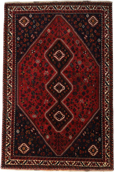 Shiraz Rug 176X270 Authentic  Oriental Handknotted Dark Red (Wool, Persia/Iran)