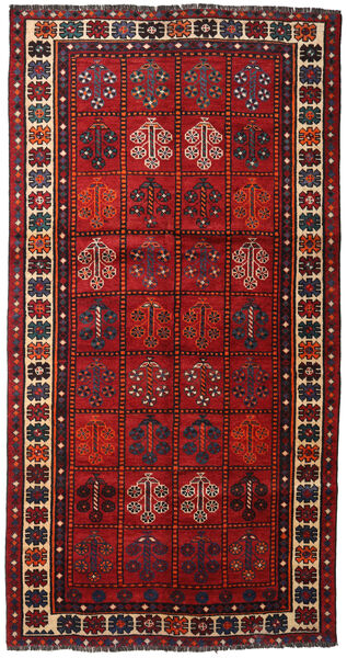 Shiraz Matto 149X285 Itämainen Käsinsolmittu Tummanpunainen/Ruoste (Villa, Persia/Iran)