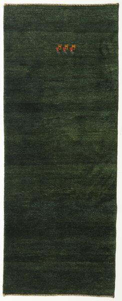 Gabbeh Persia Rug 78X196 Authentic  Modern Handknotted Hallway Runner  Dark Green (Wool, Persia/Iran)