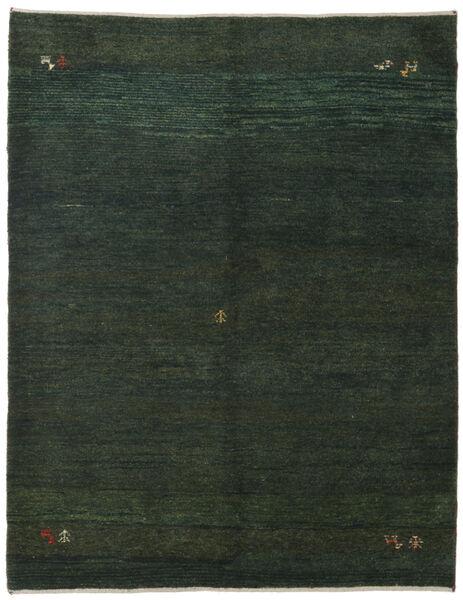 Gabbeh Persia Matto 151X195 Moderni Käsinsolmittu Tummanvihreä/Tummanvihreä (Villa, Persia/Iran)