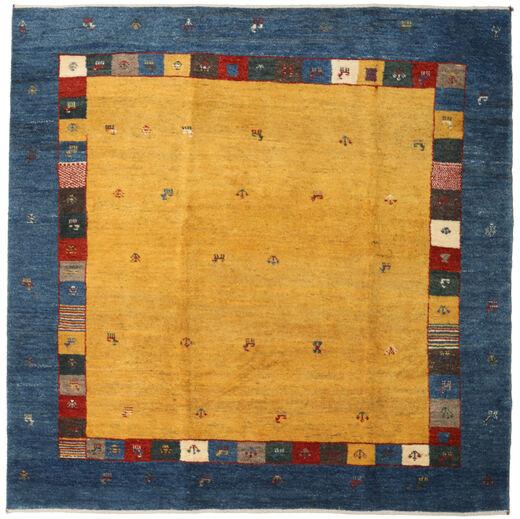 Gabbeh Persia Rug 201X204 Authentic  Modern Handknotted Square Dark Blue/Orange (Wool, Persia/Iran)