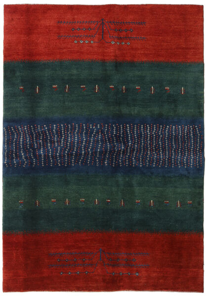 Gabbeh Persia Rug 169X240 Authentic  Modern Handknotted Dark Blue/Rust Red (Wool, Persia/Iran)