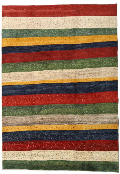 Gabbeh Persia Rug 200X281 Authentic  Modern Handknotted Dark Green/Beige (Wool, Persia/Iran)