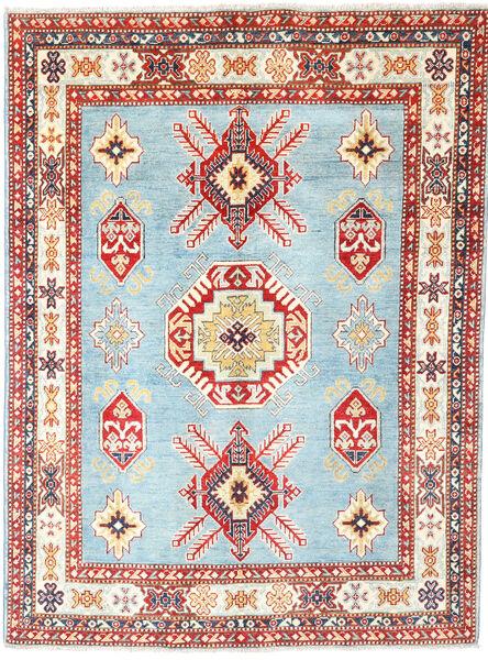 Kazak Dywan 152X206 Orientalny Tkany Ręcznie Beżowy/Jasnoniebieski (Wełna, Pakistan)