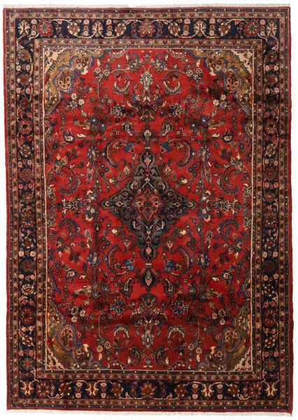 Mahal Matta 206X288 Äkta Orientalisk Handknuten Mörkröd/Mörkbrun (Ull, Persien/Iran)