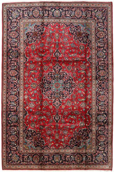 Keszan Dywan 198X298 Orientalny Tkany Ręcznie Ciemnobrązowy/Ciemnoczerwony (Wełna, Persja/Iran)