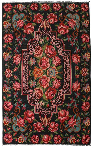 Rose Kelim Moldavia Rug 190X307 Authentic  Oriental Handwoven Black/Dark Red (Wool, Moldova)