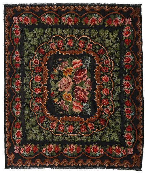 Rose Kelim Moldavia Rug 208X242 Authentic  Oriental Handwoven Black/Dark Brown (Wool, Moldova)